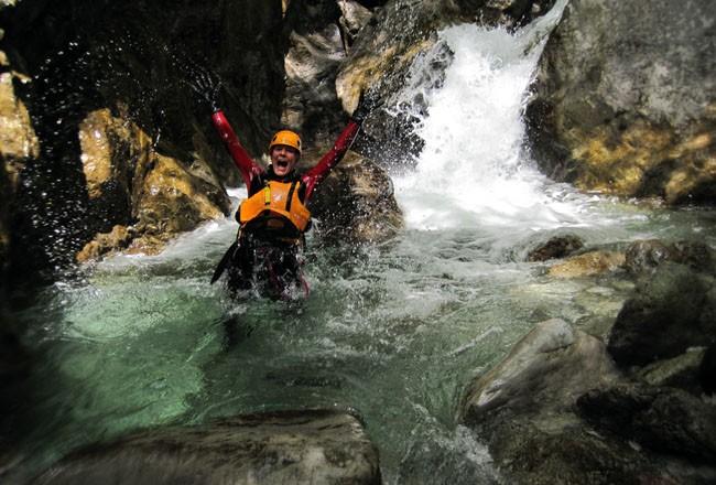 attività canyoning